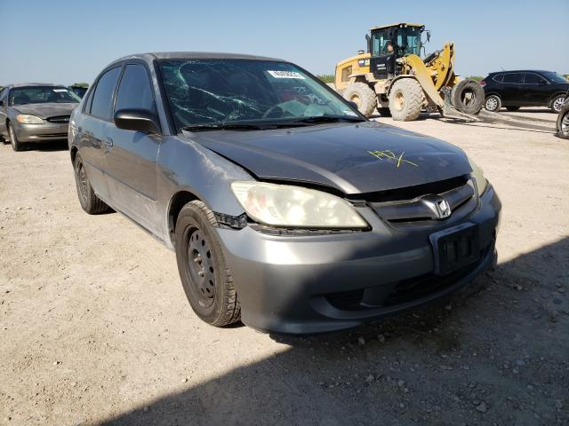 Salvage cars for sale from Copart Temple, TX: 2004 Honda Civic LX