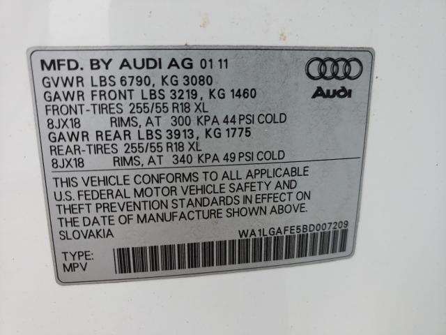 2011 AUDI Q7 PREMIUM WA1LGAFE5BD007209
