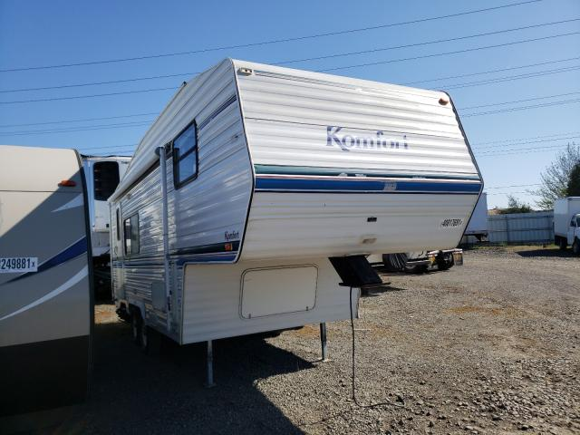 Komfort salvage cars for sale: 1998 Komfort Trailer