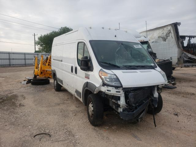 Salvage cars for sale from Copart Mercedes, TX: 2017 Dodge RAM Promaster