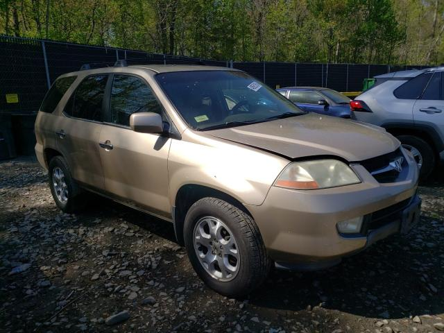 Salvage cars for sale from Copart Waldorf, MD: 2001 Acura MDX Touring