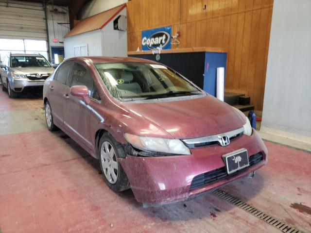 Salvage cars for sale from Copart Angola, NY: 2008 Honda Civic LX