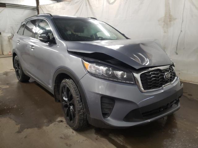 Salvage cars for sale from Copart Ebensburg, PA: 2019 KIA Sorento LX