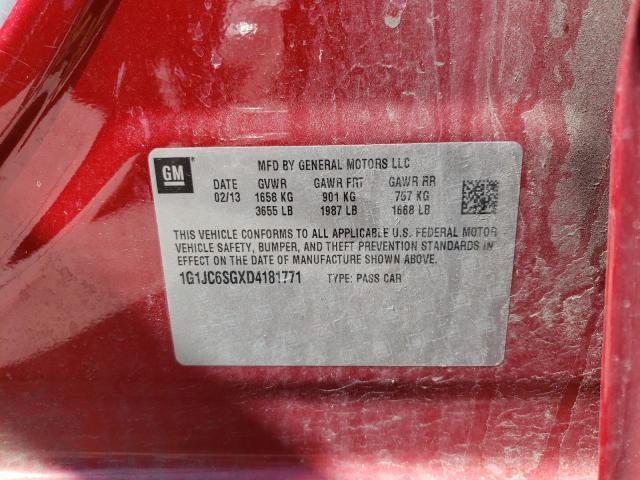 2013 CHEVROLET SONIC LT 1G1JC6SGXD4181771