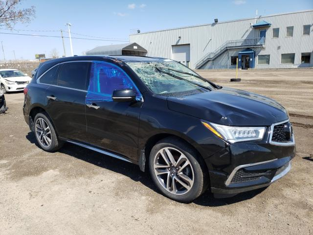 Salvage cars for sale from Copart Montreal Est, QC: 2018 Acura MDX Navi