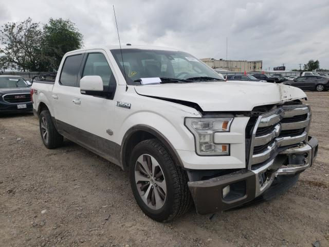 Salvage cars for sale from Copart Mercedes, TX: 2016 Ford F150 Super