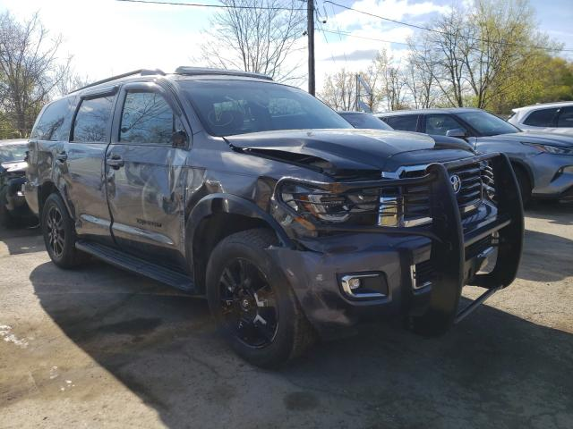 Salvage cars for sale from Copart Marlboro, NY: 2019 Toyota Sequoia SR