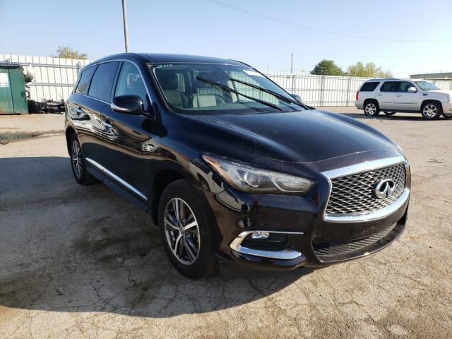 Salvage cars for sale from Copart Lexington, KY: 2019 Infiniti QX60 Luxe