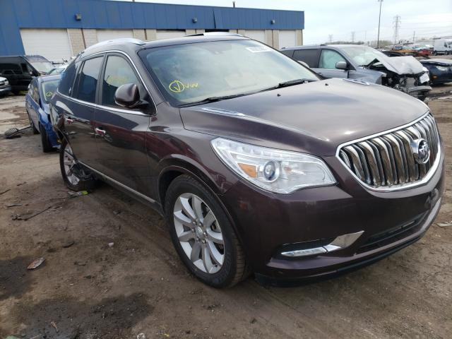 Salvage cars for sale from Copart Woodhaven, MI: 2017 Buick Enclave