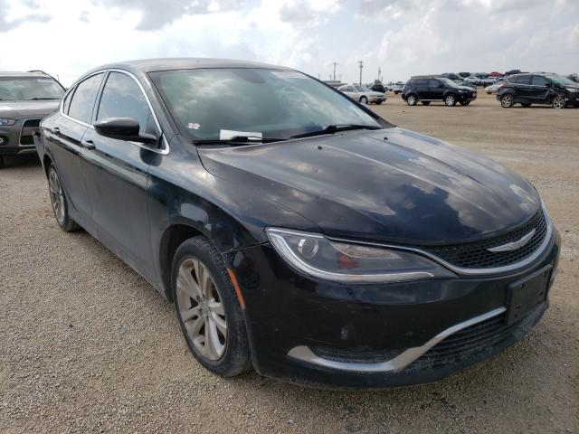 Salvage cars for sale from Copart San Antonio, TX: 2015 Chrysler 200 Limited