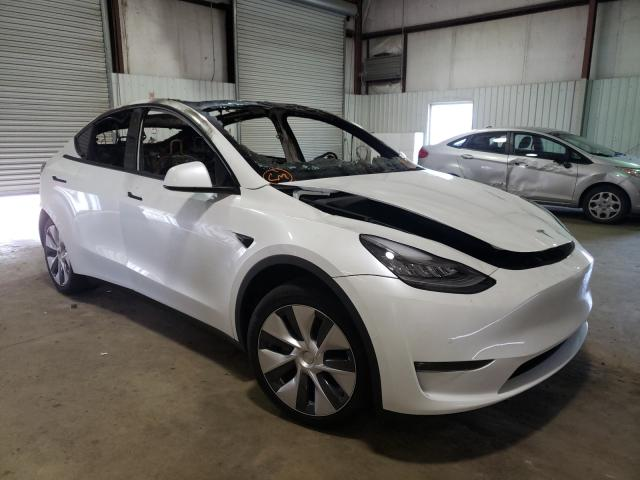Salvage cars for sale from Copart Lufkin, TX: 2021 Tesla Model Y