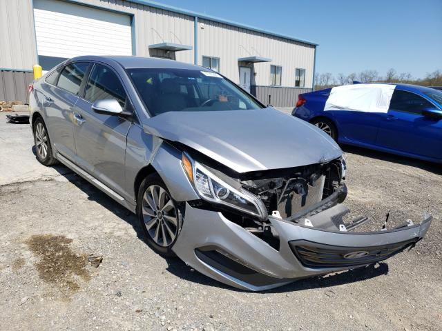Salvage cars for sale from Copart Chambersburg, PA: 2016 Hyundai Sonata Sport