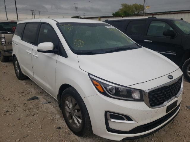 Salvage cars for sale from Copart Haslet, TX: 2019 KIA Sedona LX