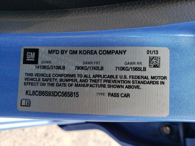 2013 CHEVROLET SPARK LS KL8CB6S93DC565815