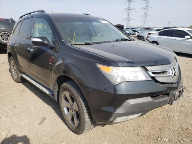 Salvage cars for sale from Copart Elgin, IL: 2007 Acura MDX Techno