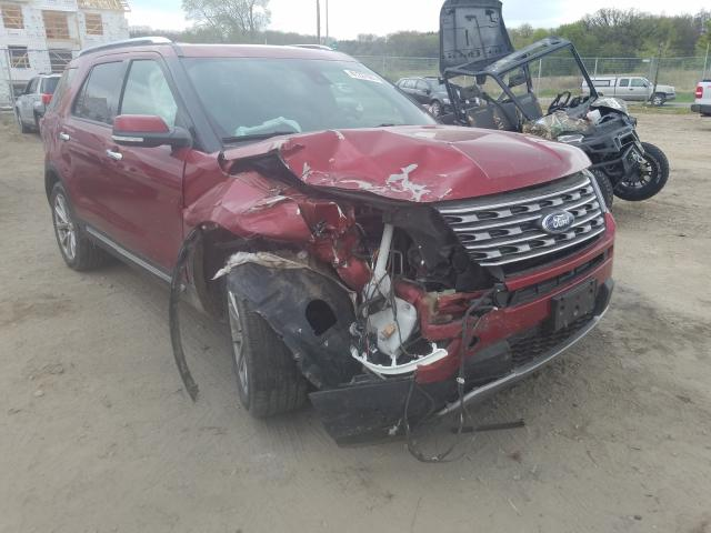 Salvage cars for sale from Copart Madison, WI: 2017 Ford Explorer L