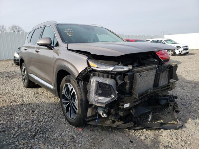 Salvage cars for sale from Copart Lansing, MI: 2019 Hyundai Santa FE L
