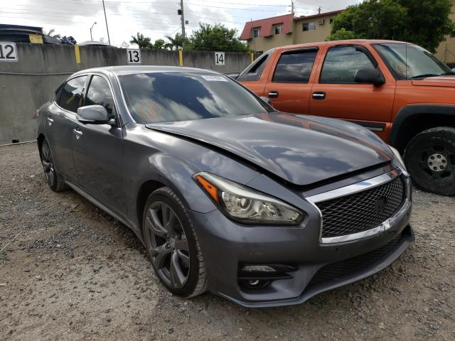 Salvage cars for sale from Copart Opa Locka, FL: 2016 Infiniti Q70 3.7