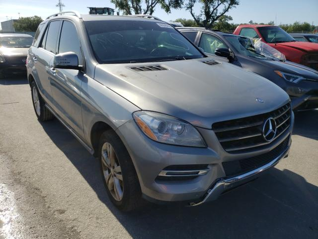 Salvage cars for sale from Copart Orlando, FL: 2014 Mercedes-Benz ML 350 BLU