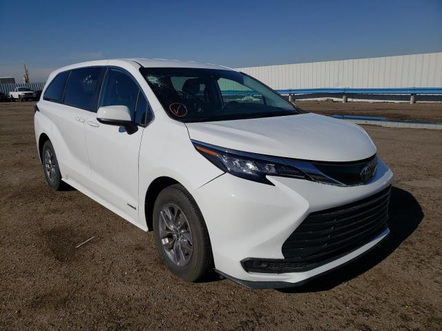 Salvage cars for sale from Copart Albuquerque, NM: 2021 Toyota Sienna LE