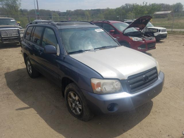 Salvage cars for sale from Copart Madison, WI: 2005 Toyota Highlander