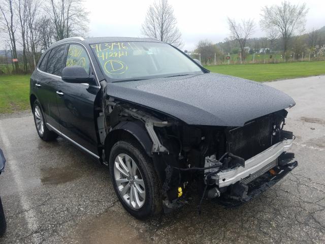 Salvage cars for sale at West Warren, MA auction: 2016 Audi Q5 Premium