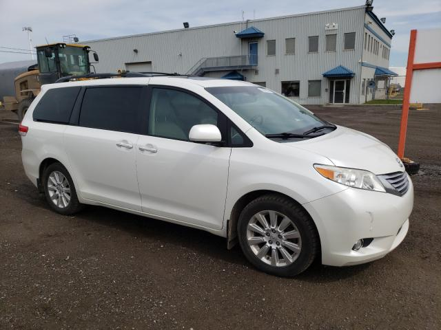 Salvage cars for sale from Copart Montreal Est, QC: 2011 Toyota Sienna XLE