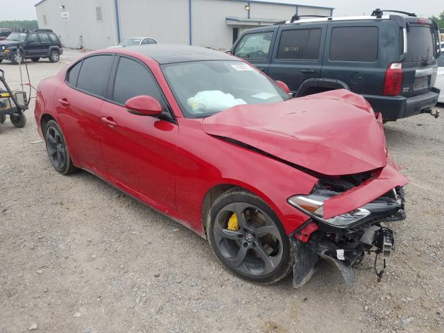 Salvage cars for sale from Copart Mercedes, TX: 2018 Alfa Romeo Giulia