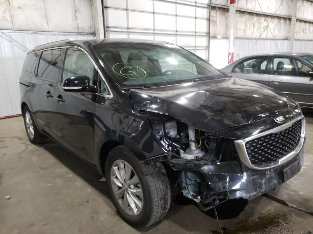Salvage cars for sale from Copart Woodburn, OR: 2018 KIA Sedona EX
