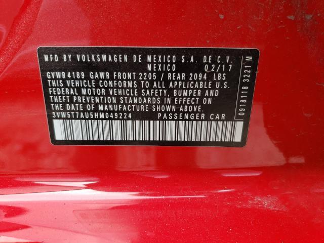 2017 VOLKSWAGEN GTI S 3VW5T7AU5HM049224