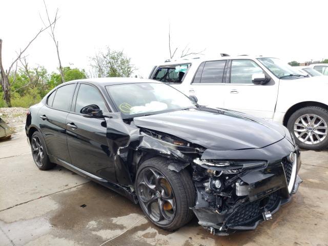 Salvage cars for sale at Grand Prairie, TX auction: 2018 Alfa Romeo Giulia TI