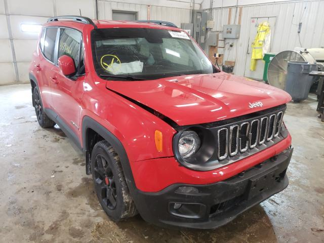 Salvage cars for sale from Copart Columbia, MO: 2018 Jeep Renegade L