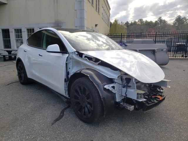 Salvage cars for sale from Copart Exeter, RI: 2021 Tesla Model Y