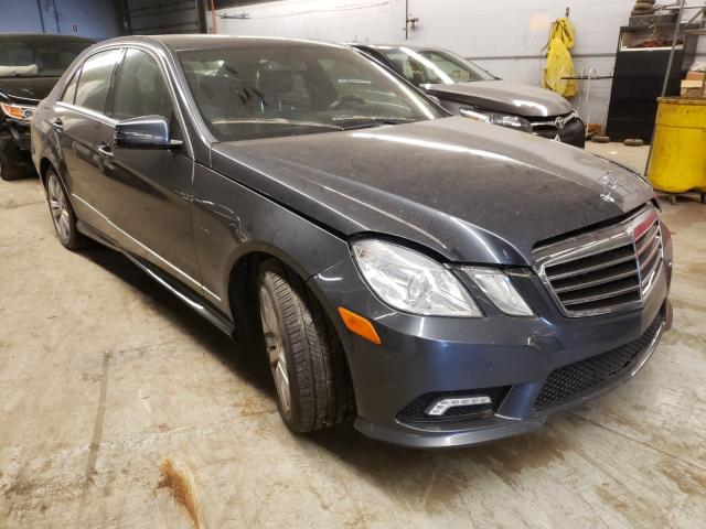 Salvage cars for sale from Copart Wheeling, IL: 2011 Mercedes-Benz E 350 Blue