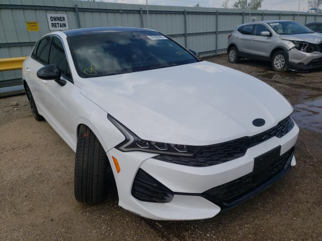 Salvage cars for sale from Copart Pekin, IL: 2021 KIA K5 GT Line