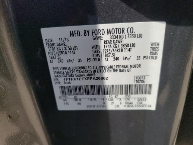 2014 FORD F150 SUPER 1FTFX1EFXEFA26862