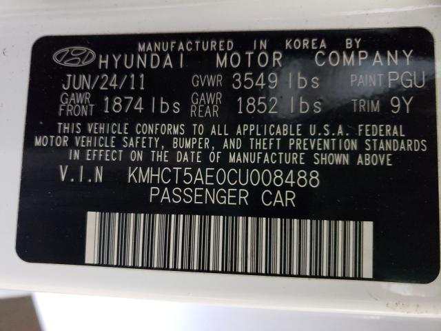 2012 HYUNDAI ACCENT GLS KMHCT5AE0CU008488