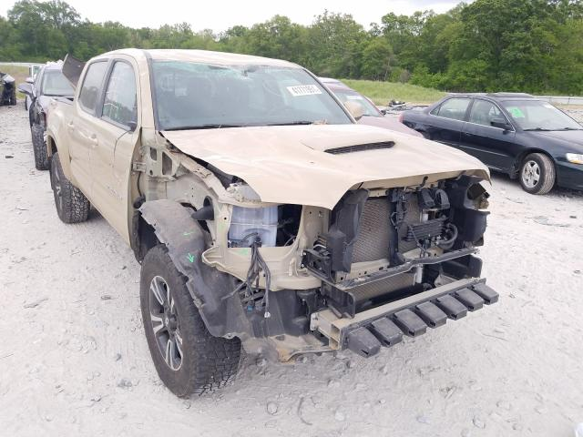 Salvage cars for sale from Copart Cartersville, GA: 2017 Toyota Tacoma DOU