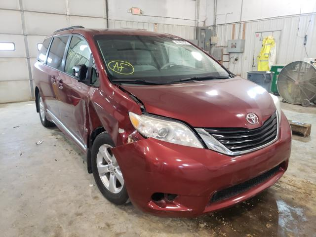 Salvage cars for sale from Copart Columbia, MO: 2011 Toyota Sienna LE