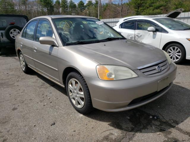 Salvage cars for sale from Copart Exeter, RI: 2003 Honda Civic EX