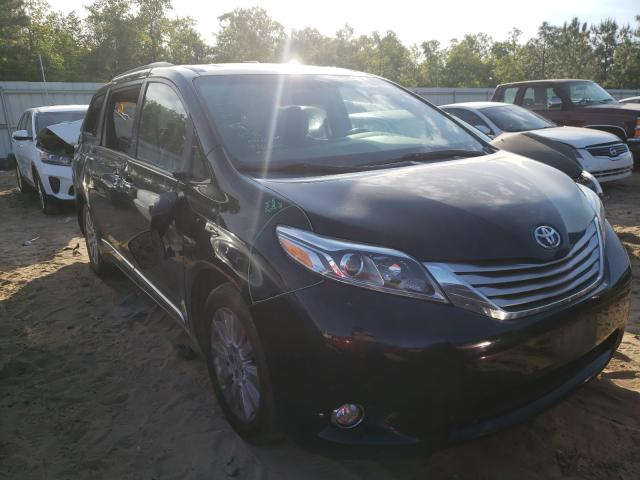 Salvage cars for sale from Copart Gaston, SC: 2015 Toyota Sienna XLE