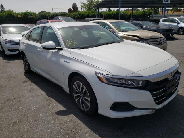 Salvage cars for sale from Copart San Martin, CA: 2021 Honda Accord Hybrid