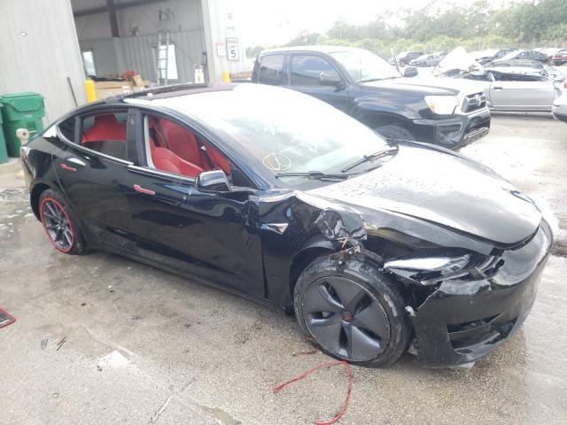 Salvage cars for sale at Fort Pierce, FL auction: 2019 Tesla Model 3