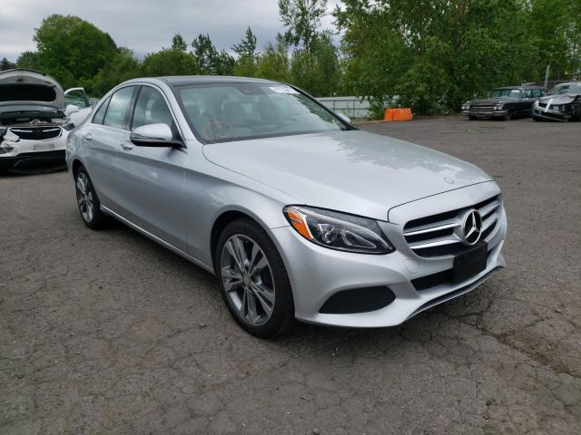 Salvage cars for sale from Copart Portland, OR: 2016 Mercedes-Benz C 300 4matic