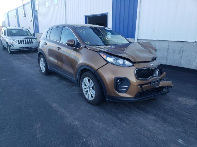 Salvage cars for sale from Copart Atlantic Canada Auction, NB: 2017 KIA Sportage L