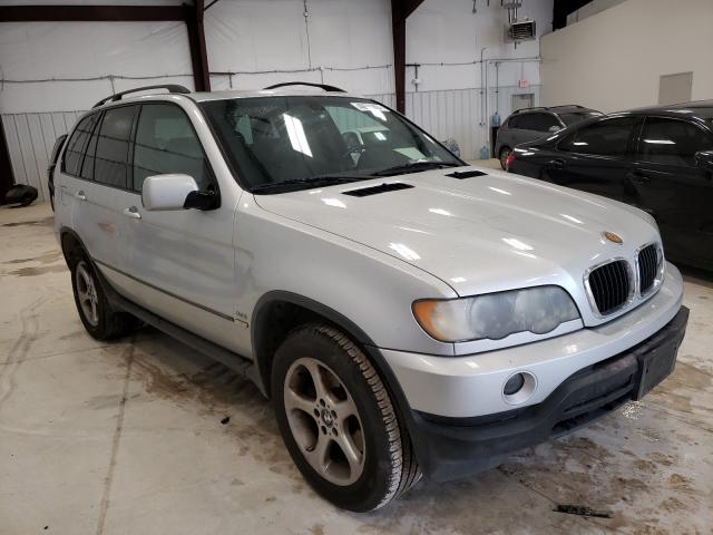 Salvage cars for sale at San Antonio, TX auction: 2002 BMW X5 3.0I