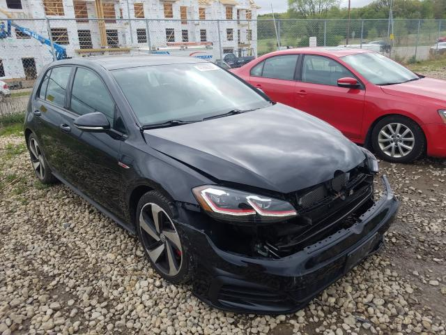 Salvage cars for sale from Copart Madison, WI: 2018 Volkswagen GTI S/SE