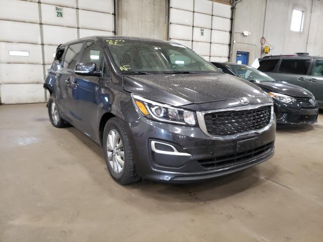 Salvage cars for sale from Copart Blaine, MN: 2019 KIA Sedona LX