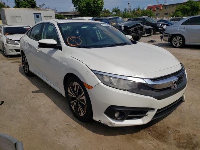 Salvage cars for sale from Copart Opa Locka, FL: 2016 Honda Civic EX