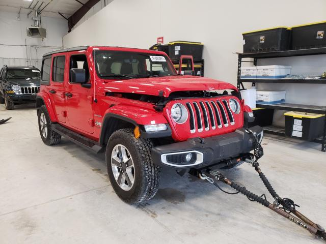 Salvage cars for sale from Copart San Antonio, TX: 2020 Jeep Wrangler U